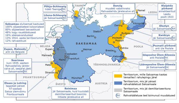 Versailles' rahulepingu tingimused Saksamaale